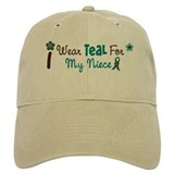 I Wear Teal For My Niece 12 Baseball Cap
