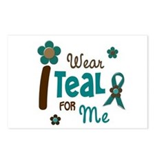 I Wear Teal For ME 12 Postcards (Package of 8)