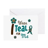 I Wear Teal For ME 12 Greeting Cards (Pk of 10)