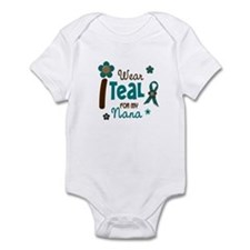 I Wear Teal For My Nana 12 Infant Bodysuit