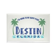 Destin Happy Place - Rectangle Magnet