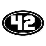 #42 Euro Bumper Oval Sticker -Black