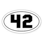 #42 Euro Bumper Oval Sticker -White
