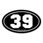 #39 Euro Bumper Oval Sticker -Black
