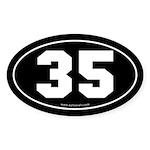 #35 Euro Bumper Oval Sticker -Black