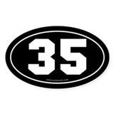#35 Euro Bumper Oval Sticker -Black