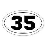 #35 Euro Bumper Oval Sticker -White