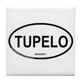 Tupelo Oval Tile Coaster