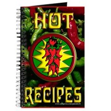 Hot Recipes Blank Recipe Book