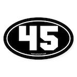 #45 Euro Bumper Oval Sticker -Black