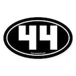 #44 Euro Bumper Oval Sticker -Black