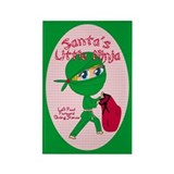 Santa's Little Ninja Rectangle Magnet (100 pack)