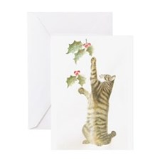 Reaching for Mistletoe Card