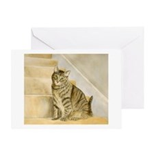 Cat on Stairs Card
