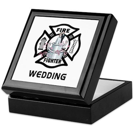 Firefighter Wedding Cake Keepsake Box By Bonfiredesigns