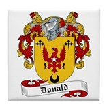 Donald Family Crest Tile Coaster