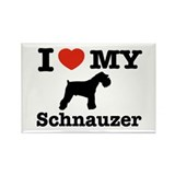 I love my Schnauzer Rectangle Magnet (10 pack)