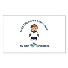"""My mom scrapbooks."" Rectangle Decal"