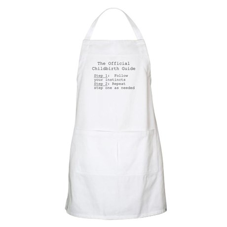 Childbirth guide/ trust your BBQ Apron