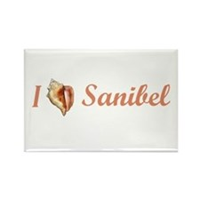 I Heart Sanibel Rectangle Magnet