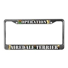 Operation Airedale Terrier License Plate Frame