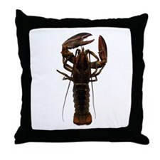Live American Lobster Throw Pillow