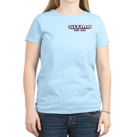 Gitmo Surf Club (Front/Back) Women's Pink T-Shirt