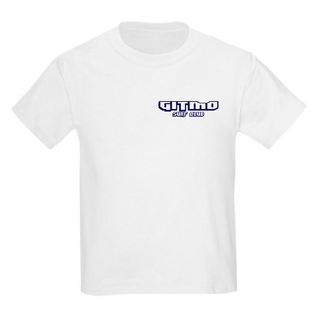 Gitmo Surf Club (Front/Back) Kids T-Shirt
