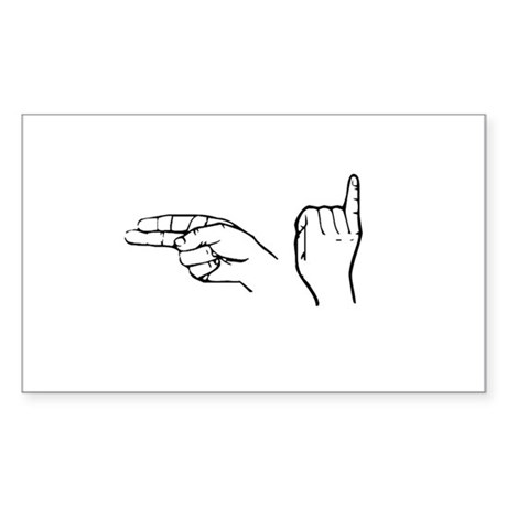 ASL greeting Rectangle Sticker
