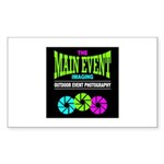 The Main Event Imaging Rectangle Sticker