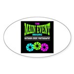 The Main Event Imaging Oval Sticker