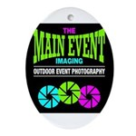 The Main Event Imaging Oval Ornament
