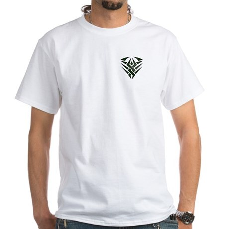 Tribal Pocket Badge White T-Shirt
