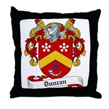 Duncan Family Crest Throw Pillow