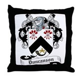 Duncanson Family Crest Throw Pillow
