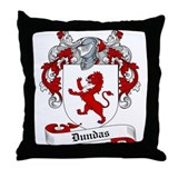 Dundas Family Crest Throw Pillow