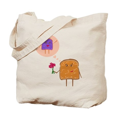 Peanut Butter and Jelly Love - Tote Bag
