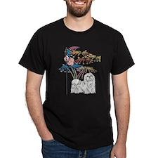 USA Flag Maltese T-Shirt