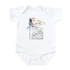 USA Flag Maltese Infant Bodysuit