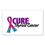 CURE Thyroid Cancer 1.2 Rectangle Decal