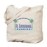 Ft. Lauderdale Happy Place - Tote or Beach Bag