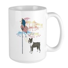 USA Flag Boston Terrier Mug