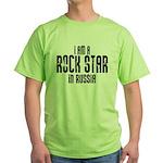 Rock Star In Russia Green T-Shirt