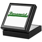 Softball Paranoid Keepsake Box