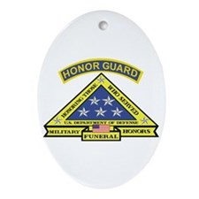 Honor Guard Oval Ornament