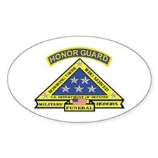 Honor Guard Oval Decal