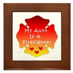 Firefighter Aunt Framed Tile