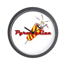 Pyromaniac Wall Clock