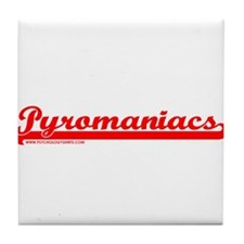 Softball Pyromaniacs Tile Coaster