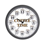 Coffee Time Wall Clock